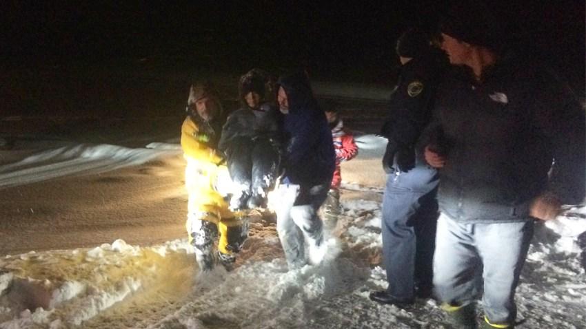 Long Pond Maine rescue