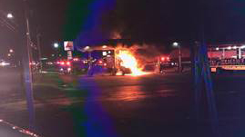 MILFORD GAS STATION FIRE