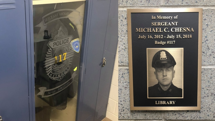 Michael Chesna honored by Weymouth Police