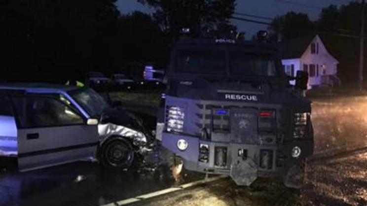 NH Police Vehicle Crash