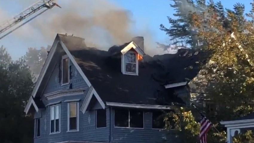 Newport RI house fire 102118 WJAR