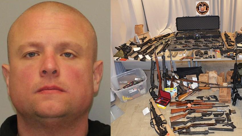 Officer Arrested Guns