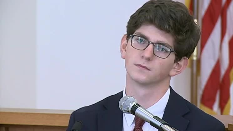 Owen Labrie testifying