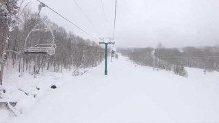 Pico Mountain Ski Resort with snow