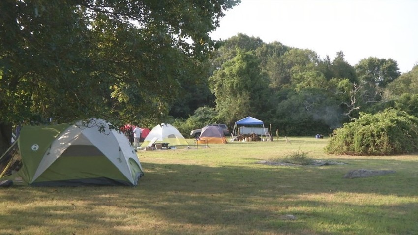 Pokanoket tribe long term encampment Brown University Bristol RI WJAR