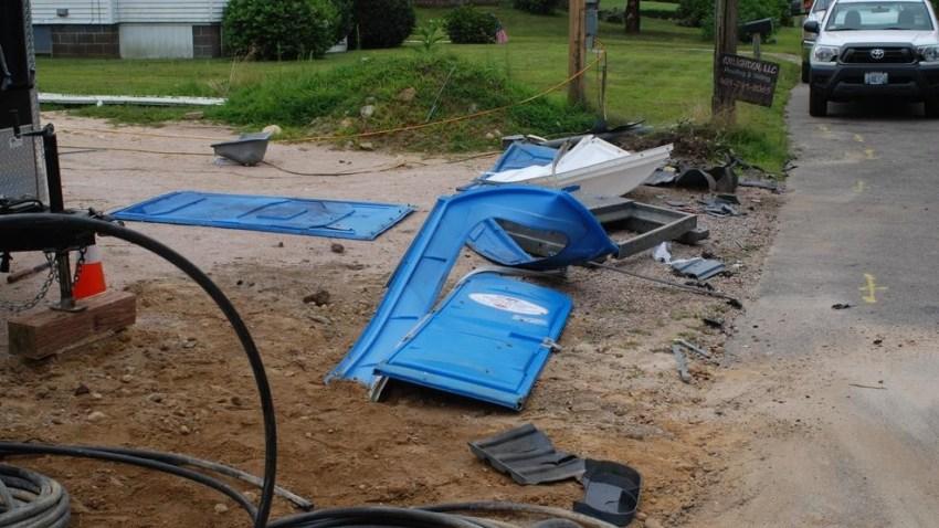 Portable toilets blown up Rhode Island