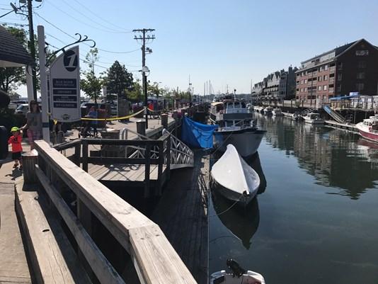 Portland Maine body discovered pier scene WCSH