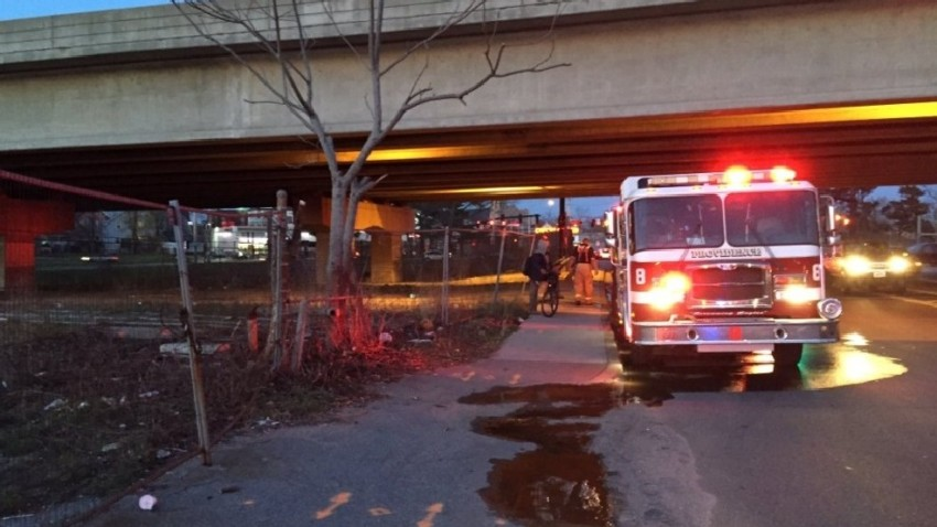 RI Route 10 Overpass Fire
