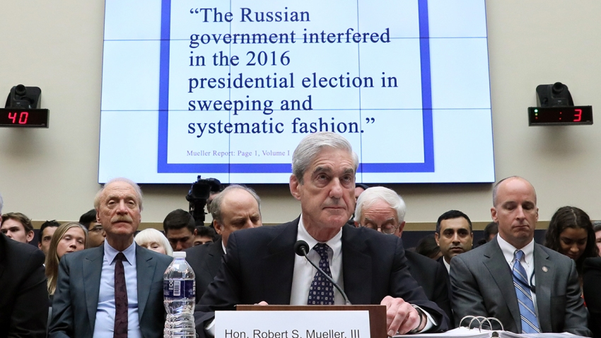 Former Special Counsel Robert Mueller testifies before a House Judiciary Committee hearing about his report on Russian interference in the 2016 presidential election in the Rayburn House Office Building, July 24, 2019, in Washington, D.C.