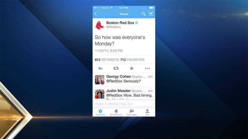Red Sox tweet during Ferguson
