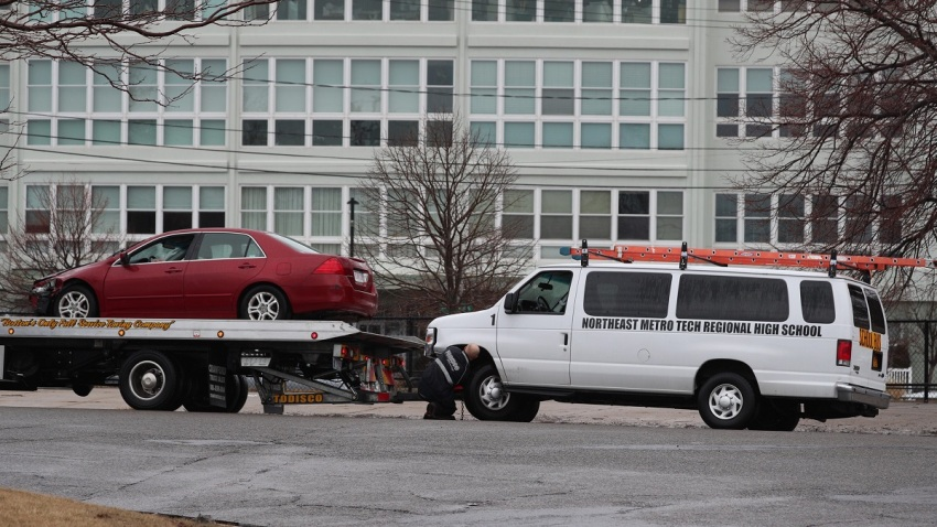 Revere school bus van crash 021519