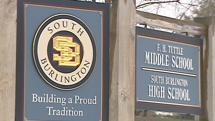South Burlington HS MS sign