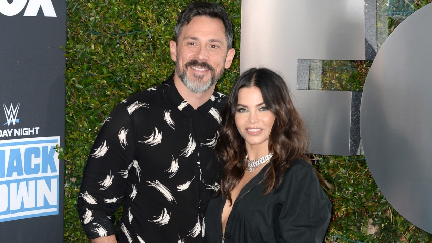 In this file photo, Steve Kazee and Jenna Dewan attend WWE 20th Anniversary Celebration Marking Premiere of WWE Friday Night SmackDown on FOX at Staples Center on October 04, 2019 in Los Angeles, California.
