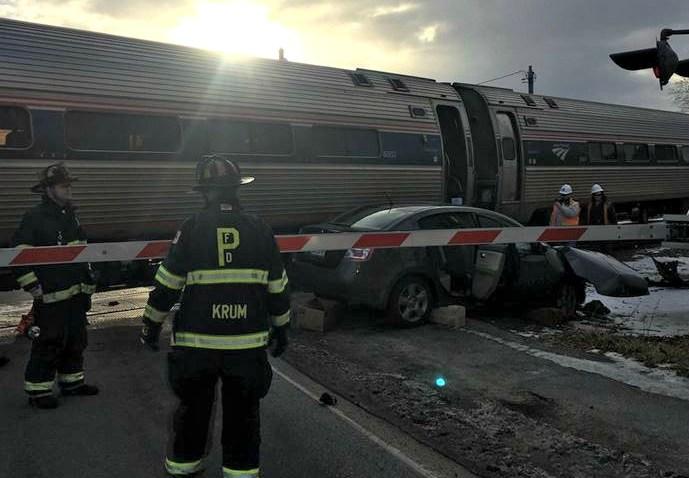 Train Hits Car Maine 21