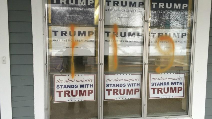 Trump Vandalism Littleton