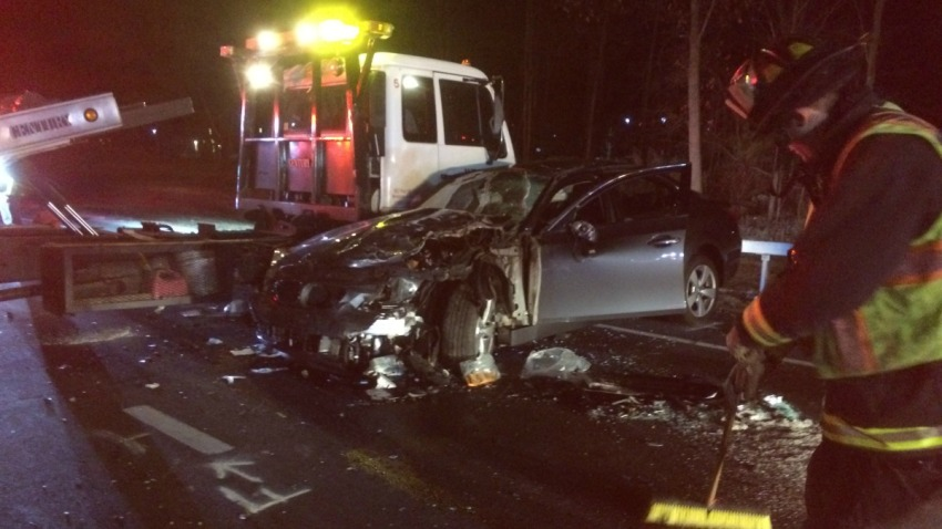 Westport crash on Merritt Parkway