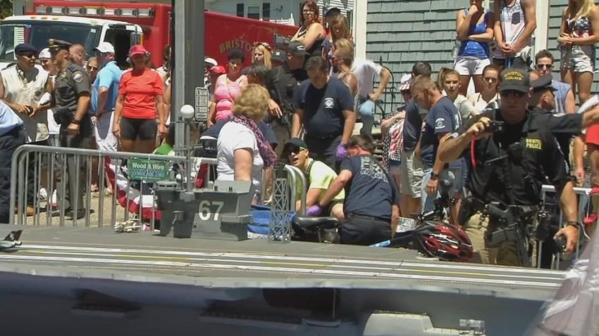 Woman injured at parade