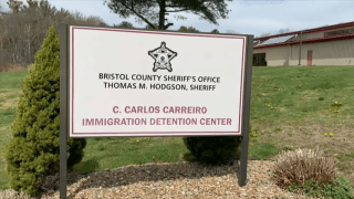The C. Carlos Carreiro Immigration Detention Center in Dartmouth, Massachusetts.