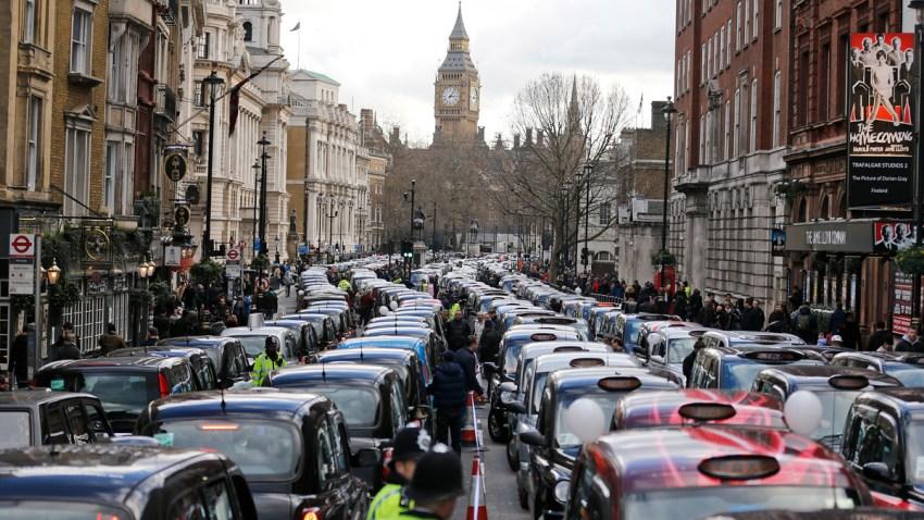 Britain Taxi Protest