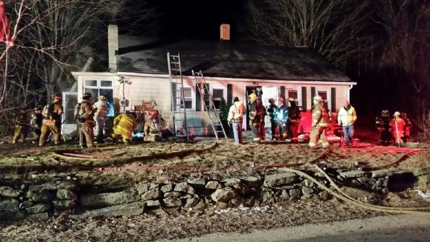 burrillville RI overnight fire