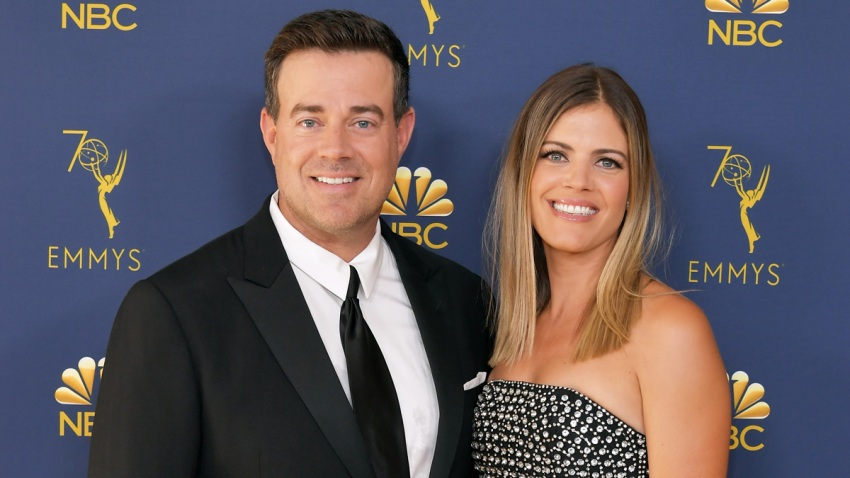 In this file photo, Carson Daly (L) and Siri Pinter attend the 70th Emmy Awards at Microsoft Theater on September 17, 2018 in Los Angeles, California.