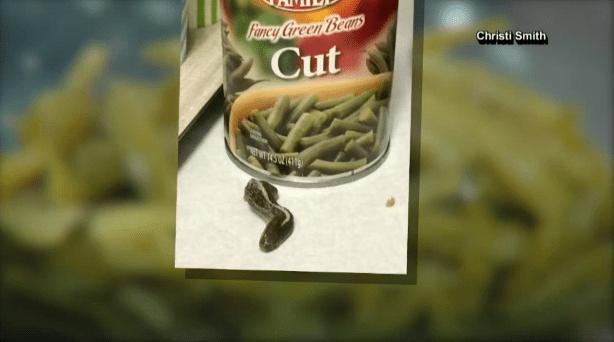green beans severed snake head
