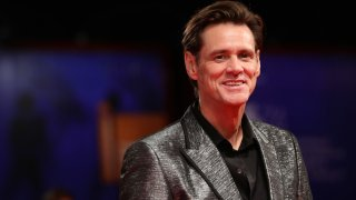 "In this Sept. 5, 2017, file photo, Jim Carrey walks the red carpet ahead of the ""Jim & Andy: The Great Beyond - The Story of Jim Carrey & Andy Kaufman Featuring a Very Special, Contractually Obligated Mention of Tony Clifton"" screening during the 74th Venice Film Festival at Sala Grande in Venice, Italy."