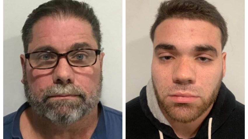 Mugshots of John Ferreira (left) and Tyler Ferreira (right).