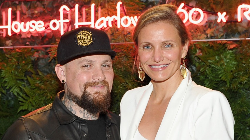In this June 2, 2016, file photo, guitarist Benji Madden and actress Cameron Diaz attend House of Harlow 1960 x REVOLVE in Los Angeles, California.