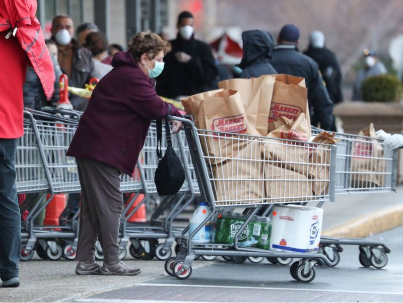 PHOTOS: Here's What Market Basket's New Social Distancing Rules Look Like