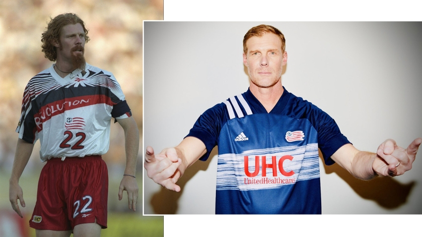 New England Revolution kit in 1996 and 2020
