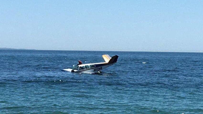 plane in bay