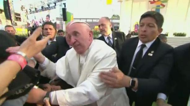pope scolds fan