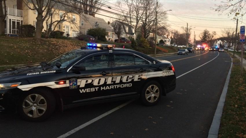 possible pedestrian hit in West Hartford