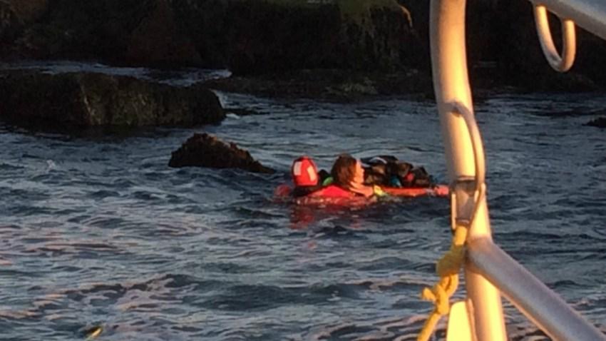 rescued windsurfer