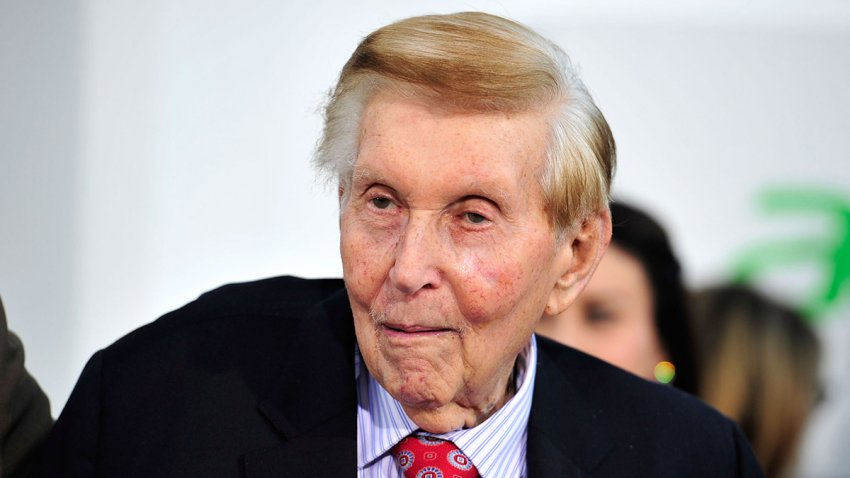 Viacom's Sumner Redstone arrives at the premiere of Paramount Pictures' 'Star Trek Into Darkness' at the Dolby Theatre on May 14, 2013 in Hollywood, California.