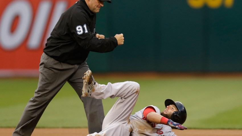 APTOPIX Red Sox Athletics Baseball
