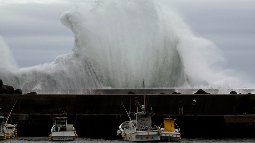 APTOPIX Japan Asia Typhoon