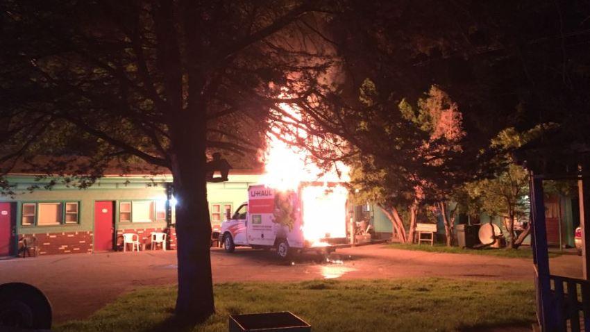 Vermont Uhaul Truck Fire