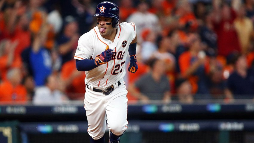 [CSNPhily] MLB Playoffs: Jose Altuve blasts 3 HRs as Astros cruise past Red Sox