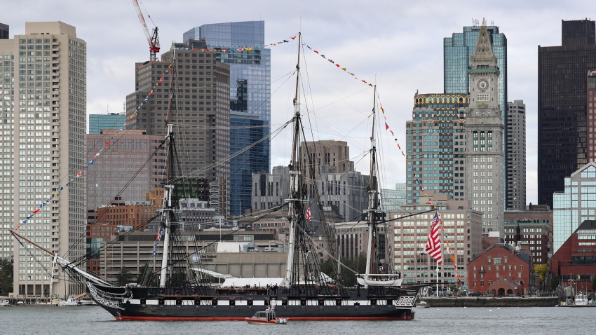 uss constitution at boston harbor 101819