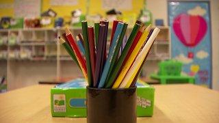 Cups of pencills