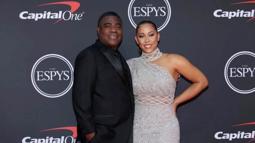 LOS ANGELES, CALIFORNIA - JULY 10: Tracy Morgan (L) and Megan Wollover attend The 2019 ESPYs at Microsoft Theater on July 10, 2019 in Los Angeles, California.