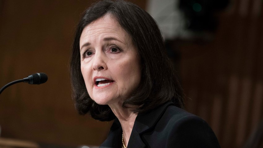 WASHINGTON, DC - FEBRUARY 13: Judy Shelton testifies before the Senate Banking, Housing and Urban Affairs Committee during a hearing on their nomination to be member-designate on the Federal Reserve Board of Governors on February 13, 2020 in Washington, DC.