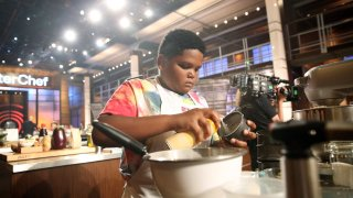 Contestant Ben Watkins in the Junior Edition of Master Chef.