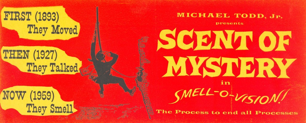 """Smell-O-Vision """"Scent Of Mystery"""" movie poster."""