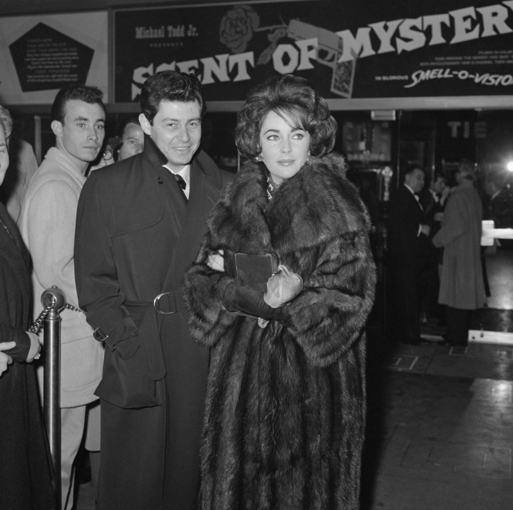 New York City: Liz and Eddie At Premiere.