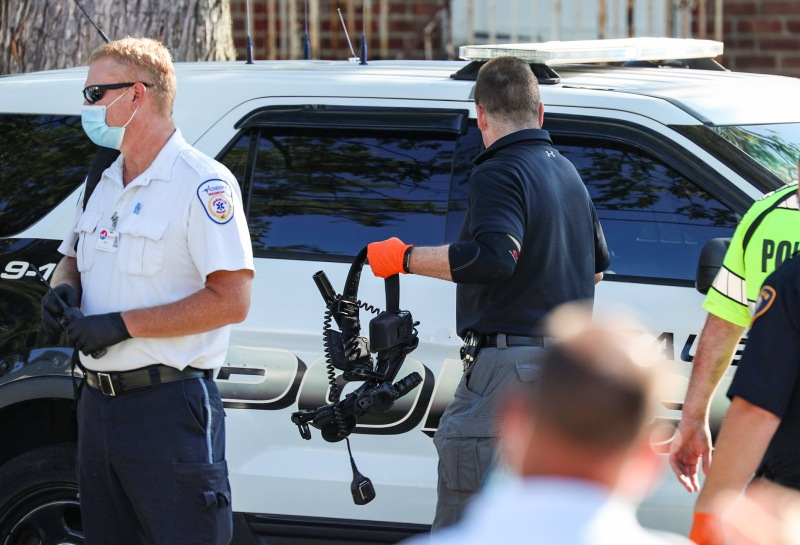 PHOTOS: Police Officers Injured in Saugus