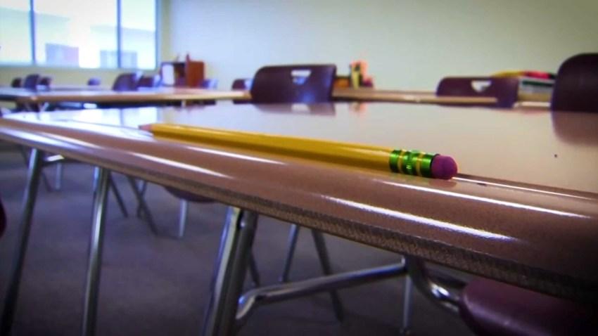 An empty classroom.