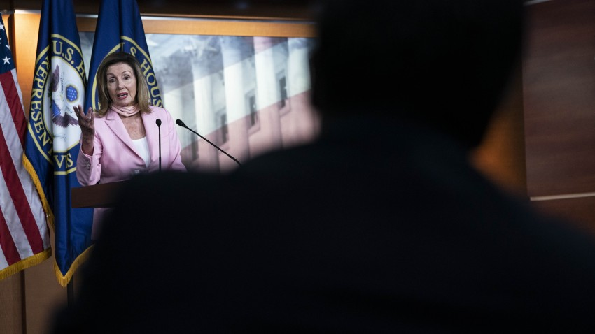 U.S. House Speaker Nancy Pelosi, a Democrat from California, speaks during a news conference on Capitol Hill in Washington, D.C., U.S., on Friday, July 31, 2020. The Senate left Washington for the weekend after a fourth day of negotiations yielded little substantial progress on narrowing differences between Republicans and Democrats on a plan to bolster the coronavirus-ravaged U.S. economy.